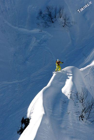 Photo: Snowboarder in Sochi, Russia