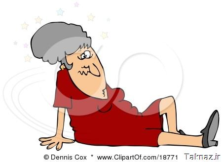 18771-Clipart-Illustration-Of-A-Gray-Haired-Lady-In-A-Red-Dress-Seeing-Stars-And-Sitting-On-The-Floor-After-Taking-A-Nasty-Fall-And-Injuring-Herself-At-The-Office.jpg