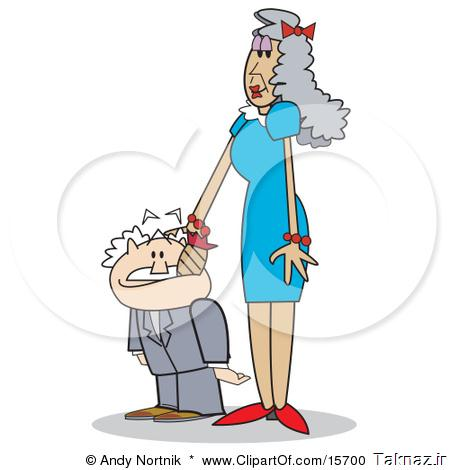 15700-Tall-And-Slender-Senior-Woman-Patting-Her-Short-Husbands-Head-Clipart-Illustration.jpg