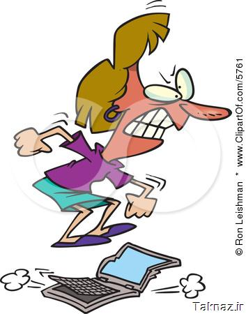 5761-Flustered-Woman-Jumping-On-A-Laptop-Computer-Clipart-Illustration.jpg