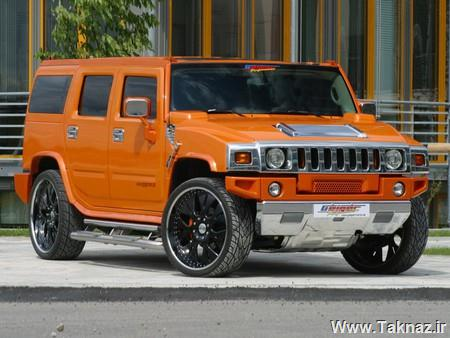 Hummer H2 Geiger - auto, car, Geiger, H2, Hummer, jeep, orange